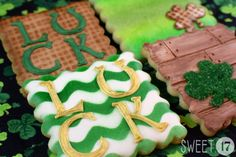 Custom St. Patrick's Day Sugar Cookies (Set of Eight) by Sweet17Cookies on Etsy