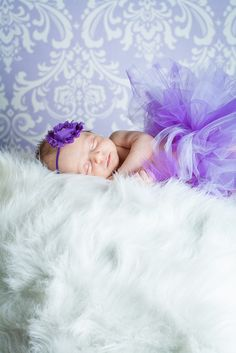 Beautiful Purple Tutu Infant Girl picture