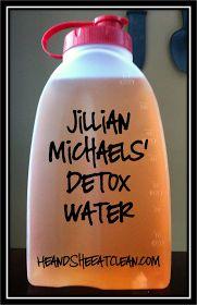 Jillian Michaels' detox water, cranberry juice