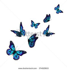 vector butterfly with hearts on wings. Vector
