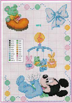 punto croce baby topolino carrozzina giostrina.jpg 747×1,066 pixels