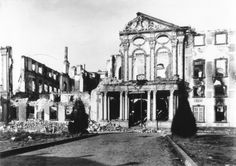 After the bombing of the town
