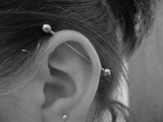 I want this done! I love the look of the industrial piercing.