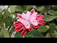 ▶ Fancy butterfly kanzashi / Fantasy Butterfly Kanzashi - YouTube