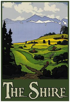 """The Shire 13""""x19"""" Poster"""