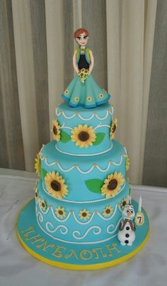Frozen fever cake for my daughter's 7th birthday!