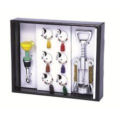 Picnic Gift 5050-HH Wine Bling Set - Happy Hour by Picnic Gift. $18.95. Design is stylish and innovative. Satisfaction Ensured.. Manufactured to the Highest Quality Available.. Great Gift Idea.. Color: Happy Hours. This set offers everything needed for neat, easy opening, and enjoying your favorite bottle: Corkscrew, bottle stopper and 6 wine charms. Color: Happy Hours.