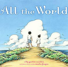 "All the World by Liz Garton Scanlon – Winner of several awards including the 2010 Caldecott Honor and the Parents Choice Gold Award (among others), this rhyming, repetitive book helps us make sense of the world and identify what's important. ""All the world is old and new … hot and cold …""  This would make a good read during a study of antonyms. It also makes a nice addition to a thematic unit on families."