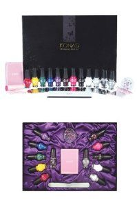 Konad Stamping Nail Art New Luxurious Collection 1 Big Case by konad stamping nail art. $115.99. konad stamping nail art the Konads new luxurious collection. Konads new luxurious collection Package Includes: * 12 Image Plates * 10 Princess Special Polishes (12 mL / 0.42 Fl.Oz) * 1 Clear Top Coat (12 mL / 0.42 Fl.Oz) * 1 Glitter Silver Top Coat (12 mL / 0.42 Fl.Oz) * 1 Image Plate Holder * 1 New Stamp * 2 Scrapers * 1 Acrylic Stick (Short) * 9 Different Shapes of Rhineston...
