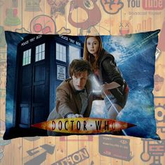 """NEW HOT!!! Doctor Who Tardis David Tennant Quotes Pillow Case 30""""X20"""" One Sides Pillowcase for Gifts & Followers #04"""