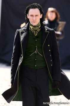 "Yes please - Tom Hiddleston on the set of ""Crimson Peak"""