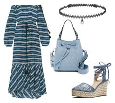 """""""Blue Wonder"""" by aemynadira on Polyvore featuring Figue, BERRICLE, Mario Valentino, MICHAEL Michael Kors and maxidress"""
