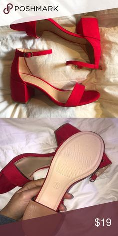 Heels Size 6 Brand New Bright Red Low Heel Shoes Heels Heels Low Heel Shoes Low Heels