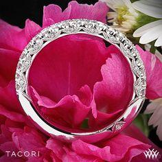 Tacori Classic Crescent Half Eternity Scalloped Millgrain Diamond Wedding Ring