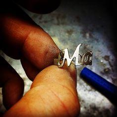 #anello #argento #nome #marica #lavorazione #artigianale #silver #ring #name #working #handmade