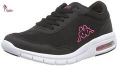 Kappa  MELO Footwear unisex, Mesh/Synthetic, Sneakers Basses femme - Noir - Schwarz (1122 black/pink), 42 - Chaussures kappa (*Partner-Link)