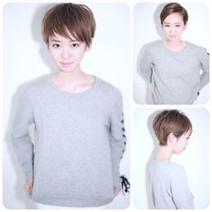 Short Hair Cuts, Short Hair Styles, Haircut For Thick Hair, Blush Brush, About Hair, Korean Girl, Pixie, Hair Color, Hair Beauty