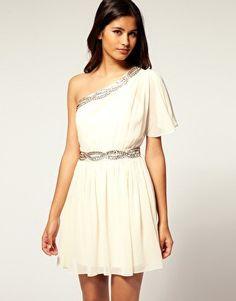 One Shoulder Dress Grecian Goddess dress - Want!