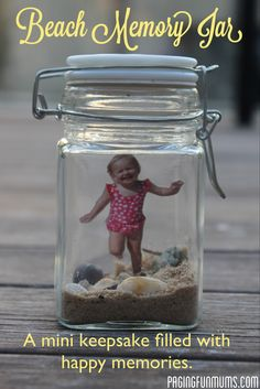 Beach Memory Jar - a special keepsake filled with happy memories and little treasures. Great instructions - very easy to make!