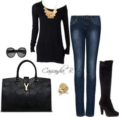 """""""Black & Gold"""" by cbrzozo13 on Polyvore"""