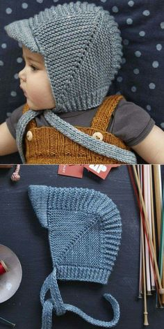 vintage-babyhaube-mit-visier-tutorial-baby-bonnet-tutorial-vintage/ - The world's most private search engine Baby Hats Knitting, Crochet Baby Hats, Free Knitting, Knitted Hats, Knit Crochet, Knit For Baby, Baby Boy Knitting Patterns Free, Baby Hat Patterns, Knitting Sweaters