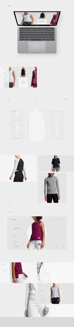 Minimalist Design for Nike Desktop and Mobile Concept