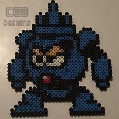 Needle Man Mega Man 3 perler beads by cgbdesigns