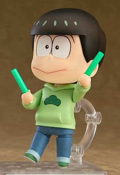 Nendoroid Choromatsu Matsuno Series Osomatsu-san Manufacturer ORANGE ROUGE Category Nendoroid Price ¥3,241 (Before Tax) Release Date 2016/10 Specifications Painted ABS&PVC non-scale articulated figure with stand included. Approximately 100mm in height. Sculptor toytec D.T.C Cooperation Nendoron Released by ORANGE ROUGE Distributed by Good Smile Company Planning/Production Good Smile Company