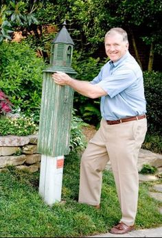 ways to hide electrical box in yard - Google Search