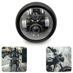 """Motorcycle LED 6 1/2"""" Projector Daymaker Headlight For Cafe Racer Bobber Touring  . https://www.amazon.com/dp/B01MQE8CCW/ref=cm_sw_r_pi_dp_x_lfY9ybDYMRATW"""