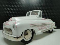 Pedal Car 49 1950s 51 Merc Mercury Chopped Custom Hot Rod Rare Midget Show Model