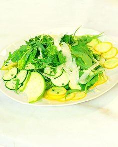 Shaved Raw Summer Squash with Parmesan Dressing Recipe