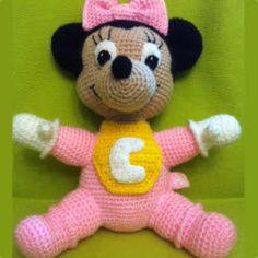 Patrones Amigurumi: Patrón Baby Minnie a crochet