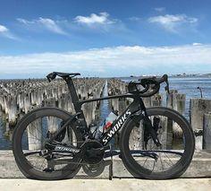 S-Works Venge Vias, looking very Stealthy.. Pic @azza030 . Follow me on: Instagram @bestbikekit  Facebook - bestbikekit  Twitter @bestbikekit  #cycling #bicycle #fitness #racing #roadbike #bikeporn #instabike #instacycling #bestbikekit #instalike #instagood #garmin #strava #aeroiseverything #shimano #speed #tri #triathlete #triathlon #aero #velo #endurance #carbonfiber #vengevias #bike #sworks  #venge #specialized #iamspecialized #srametap