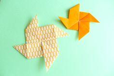 折り紙で風車の折り方