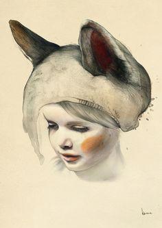 whimsical illustrative work with sense of isolation and bitter sweet nostalgia kareena zerefos