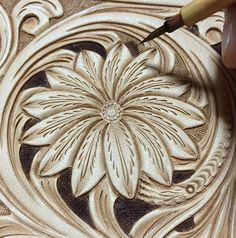 "385 Likes, 18 Comments - Mayumi Konno (@mai19620205) on Instagram: ""#leathercarving #leatherwork #leathercraft #leathergoods #floraldesign #レザークラフト…"""