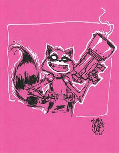 Rocket Raccoon - Skottie Young