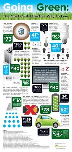 Infographic: Why green is the most cost-effective way to live | MNN - Mother Nature Network