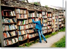 """Hay-on-Wye """"Town of books"""", Wales. An entire town of bookshops plus excellent walking in the local hills."""