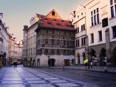 Franz Kafka lived in this building, called the House at the Minute,Old Town Square, Prague Old Town Square, Point Perspective, Prague, Writers, Street View, Europe, Adventure, City, Building
