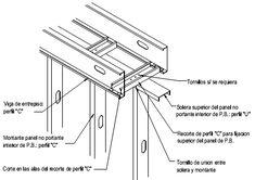Construcción con Acero Liviano: 5.5 Entrepiso sobre muro existente, balcón y Steel Deck sobre fundación   Consul Steel Drywall, Steel Framing, Roof Truss Design, Roof Trusses, Hallway Storage, Container House Plans, Steel House, Interior Design, Porches