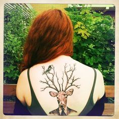 oh deer. Great Tattoos, Unique Tattoos, Beautiful Tattoos, Body Art Tattoos, Tatoos, Awesome Tattoos, Hand Tattoos, Buck Tattoo, Tattoo You