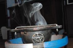 Nothing witchy-er than a smoking cauldron!