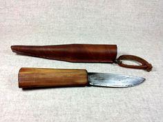 Messer handgeschmiedet mit Holzgriff Messerscheide von Schmied-Folke auf DaWanda.com