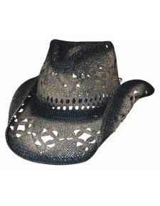 b7a6eebaa32 Bullhide Scorched BlackToyo Straw Hat Cool Hats