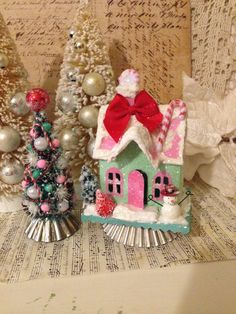 Small Gingerbread House Kitsch Christmas House by ThePokeyPoodle