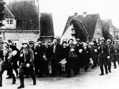Prisoners on their way to KL Amersfoort, The Netherlands.