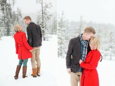LL Bean inspired winter engagement session