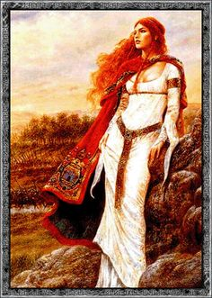 Syn, Norse goddess associated with defensive refusal. She shuts the door.